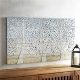 Pier 1 Imports Blue Shimmering Trees Mosaic Wall Decor