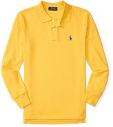 Ralph Lauren Cotton Mesh Long-Sleeve Polo