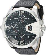 Diesel Men's DZ7376 Uber Chief Stainless Steel Black Leather Watch