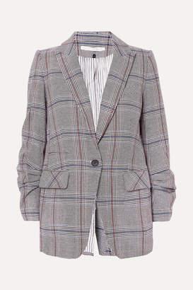 Veronica Beard Elektra Prince Of Wales Checked Cotton-blend Blazer - Gray