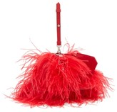 Marques Almeida Marques'almeida - Feathered Leather Cross-body Bag - Womens - Red