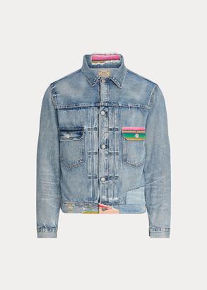 Ralph Lauren Repaired Denim Trucker Jacket