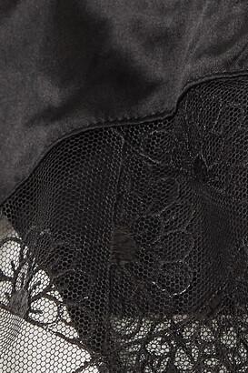 Coco de Mer Evita Cutout Lace And Stretch-satin Briefs - Black