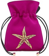 Les Petits Joueurs Nano Trilly Satin & Crystal Star Clutch