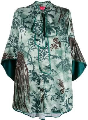 F.R.S For Restless Sleepers Diana leaf-print mini dress
