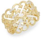 Jude Frances Diamonds & 18K Yellow Gold Filigree Ring