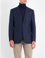 Gieves & Hawkes Checked regular-fit wool jacket