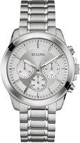 Bulova Men's Chronograph Stainless Steel Bracelet Watch 40mm 96A176