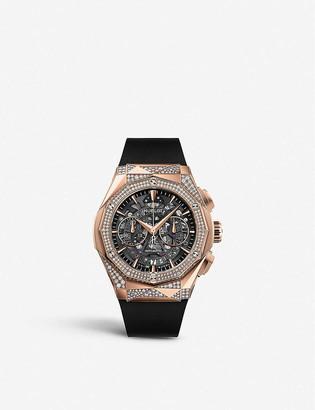 Hublot 525.OX.0180.RX.1804.ORL19 Classic Fusion Aerofusion Chronograph Orlinski 18ct King-gold and diamond watch