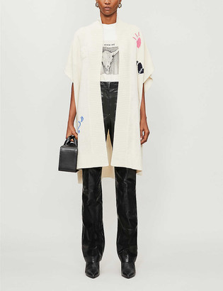 Zadig & Voltaire Indiani Jormi embroidered cashmere cardigan