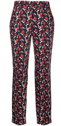 P.A.R.O.S.H. Floral-Print Cotton Trousers