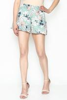Sugar Lips Mint Floral Shorts