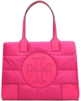 Tory Burch Ella Mini Puffe Tote In Rose-pink Nylon