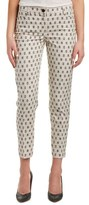 Anne Klein Slim Linen-blend Pant.