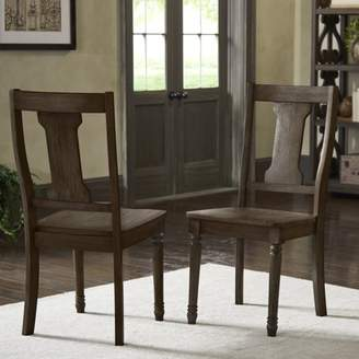 Weston Home Knudson Reclaimed Brown Finish Splat Dining Chair (Set of 2)