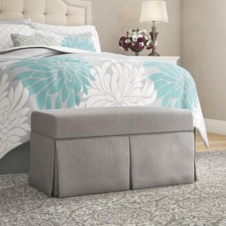 Wayfair Custom UpholsteryTM Ariana Upholstered Lift-Off Top Storage Bench Wayfair Custom Upholstery Body Fabric: Duck Gray