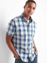Gap Poplin checkered standard fit shirt