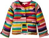 Pink Chicken Quilted Jacket (Toddler/Kid) - Print/Pop Flower - 2/3 Years