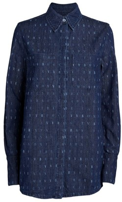 Victoria Beckham Word Search Denim Shirt