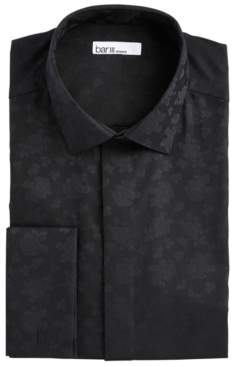 Bar III Men's Slim-Fit Performance Stretch Floral Jacquard French Cuff Dress Shirt, Created For Macy's