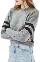 Topshop Women's Nibbled Stripe Sweater