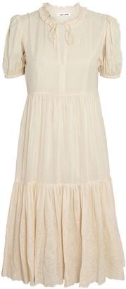Samsoe & Samsoe Melinda Puff Sleeve Silk-Cotton Dress