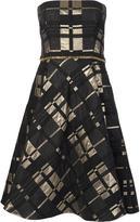 Badgley Mischka strapless flared dress - women - Polyester/Acrylic/Acetate/Wool - 8