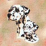 Dickens & Smyth Dalmatian & Puppy Ls 1206-LS by pure country