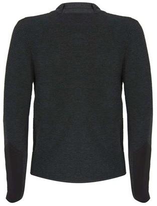 Mint Velvet Biker Ottoman Short Cardigan - Dark Grey