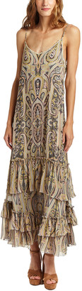 Love Sam Malca Paisley Print Maxi Dress