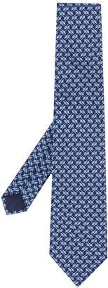 Salvatore Ferragamo Strap-Print Silk Tie