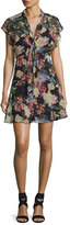 Haute Hippie Romeo Floral-Print Chiffon Dress, Multi