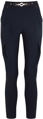 High Lurch navy stretch-jersey trousers