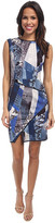 ABS by Allen Schwartz Digital Print Scuba Dress w/ Asymmetric Hem