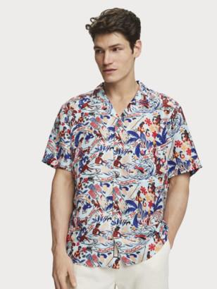 Scotch & Soda Unisex Printed Silk Shirt Keoni | Men