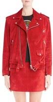 Loewe Women's Suede Moto Jacket