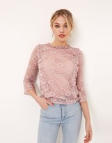 Girls On Film Girl On Film Lace Ruffle Top