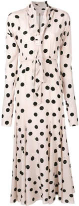 Natasha Zinko Polka Dot Print Silk Dress