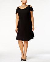 SL Fashions Plus Size Cold-Shoulder A-Line Dress