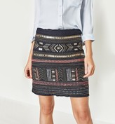 Promod Beads and embroidery skirt