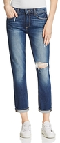 Paige Anabelle Distressed Slim Cropped Jeans