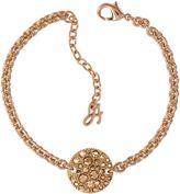 Adore Small Metallic Pave Disc Bracelet