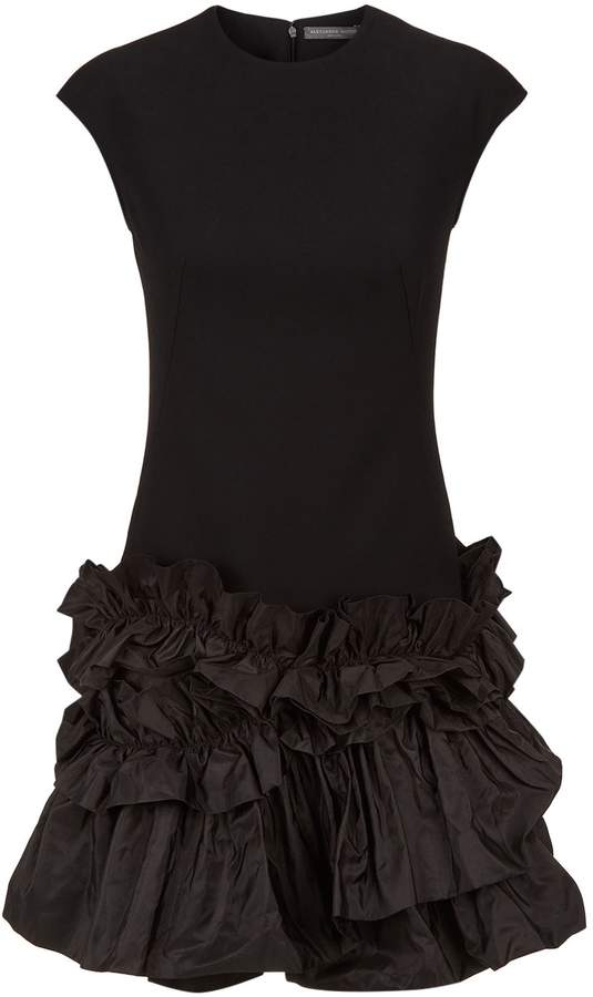 Alexander McQueen Ruffled Hem Mini Dress