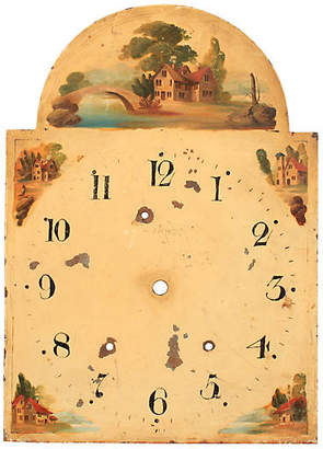 One Kings Lane Vintage 19th-C. Hand-Painted English Clock Face - Blink Home Vintique