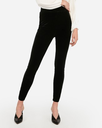 Express High Waisted Stretch Velvet Leggings