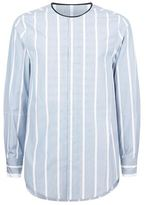 3.1 Phillip Lim Striped Collarless Shirt