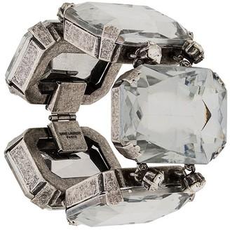 Saint Laurent Oversized Crystal-Embellished Bracelet
