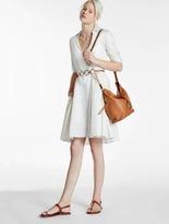Halston Lurex Stripe Shirt Dress