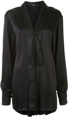 Vera Wang Oversized Silk Blouse