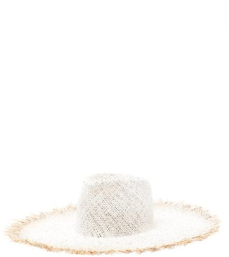 Reinhard Plank Hats - Big Nana Frayed Straw Hat - White